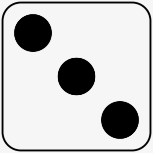 Dice Clipart Number One.