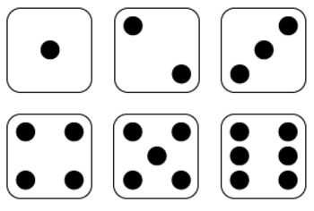 Dice and Dominoes Clipart Graphics FREE.