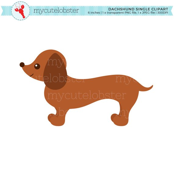 Dachshund Single Clipart.