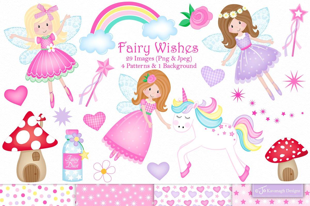Fairy clipart, Fairies, Unicorn.