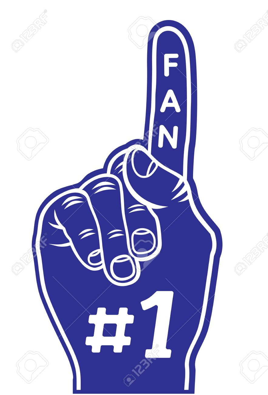 Number One Fan Clipart.