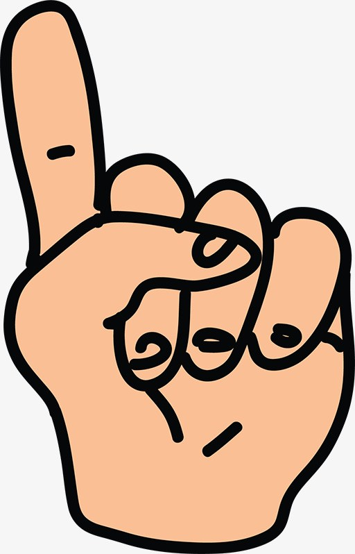 1 finger clipart 6 » Clipart Portal.