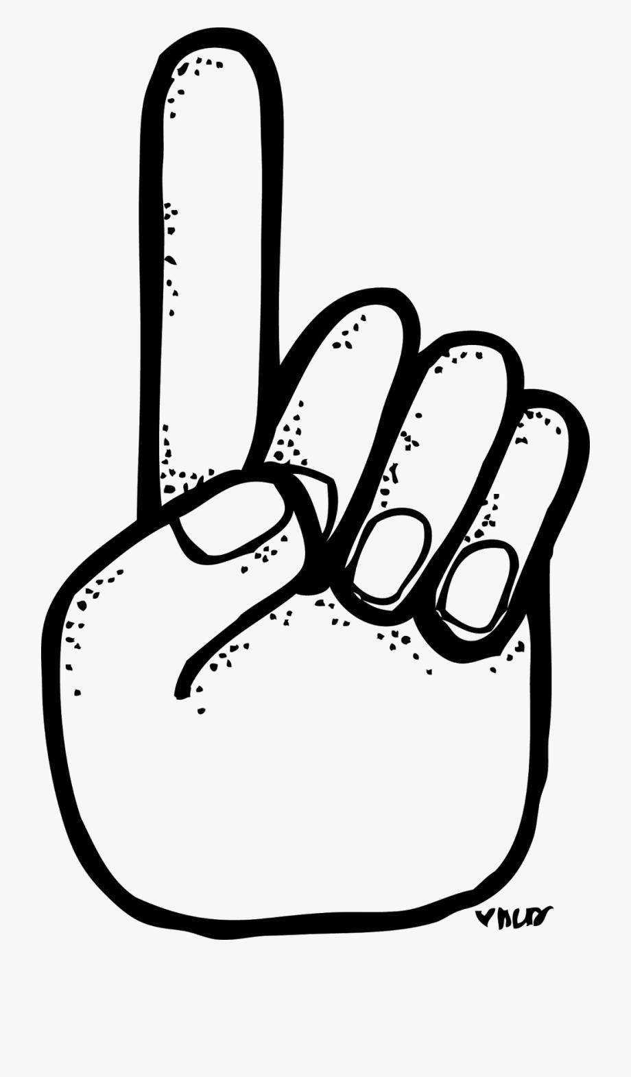 Jpg Freeuse Download Number 1 Finger Clipart.