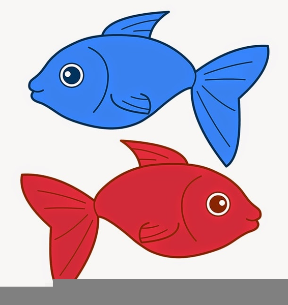 One Fish Two Fish Red Fish Blue Fish Clipart.