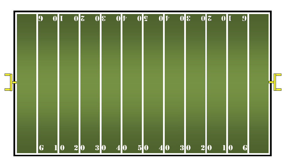 Football field clipart black and white 2 » Clipart Station.