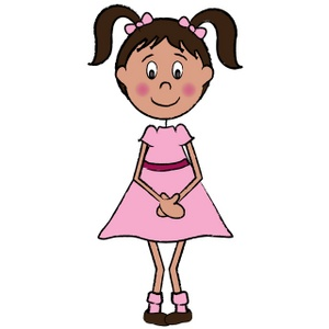 One Girl Clipart.