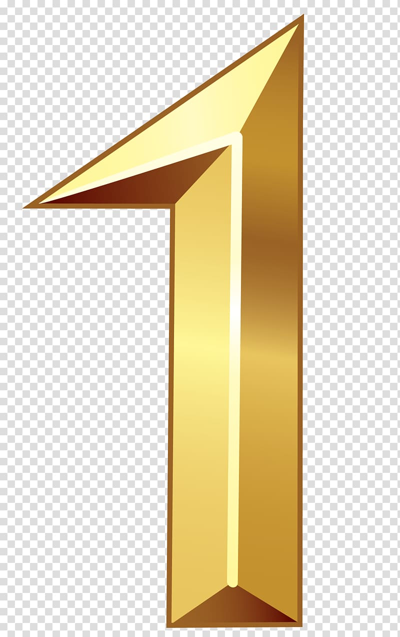 Gold Number One , gold number 1 font transparent background.