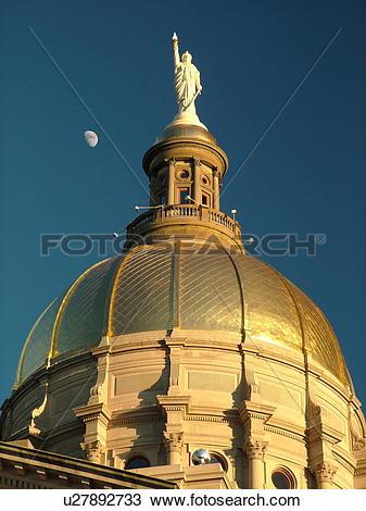 Stock Photo of Atlanta, GA, Georgia, State Capitol, State House.