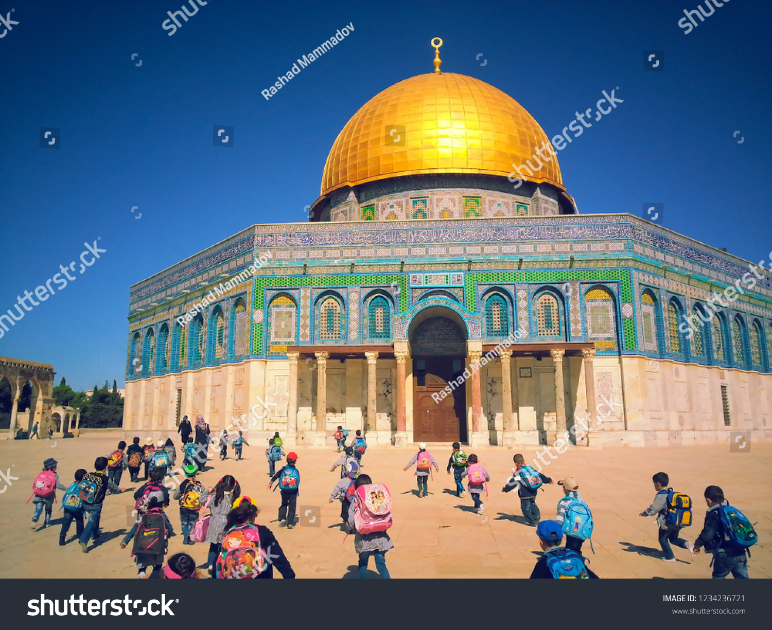 Jerusalem Palestine Golden Dome Al Aqsa Mosque Stock Photo (Edit Now.