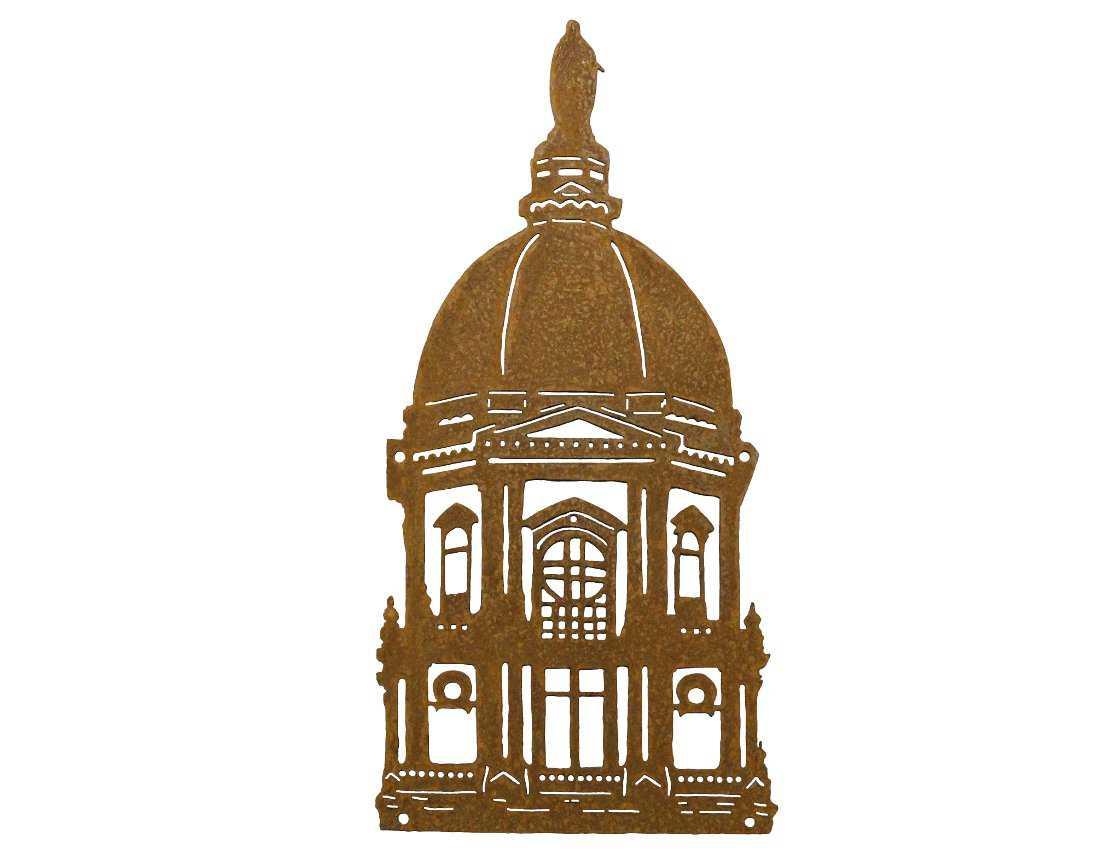 SMW571 Custom Golden Dome Metal Art.