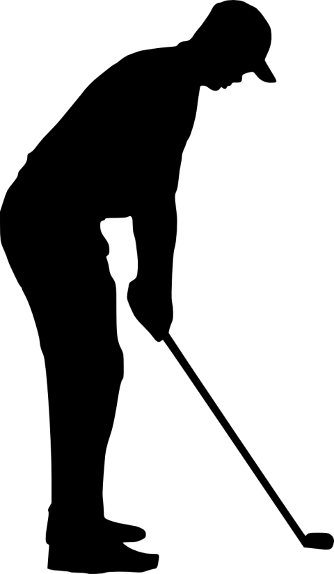 Silhouette Golf stroke mechanics Clip art.