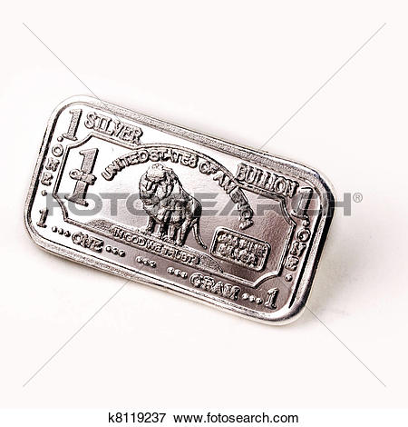 Picture of 1 Gram Silver Bar k8119237.