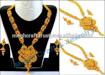 One Gram Gold Plated Necklace Set.