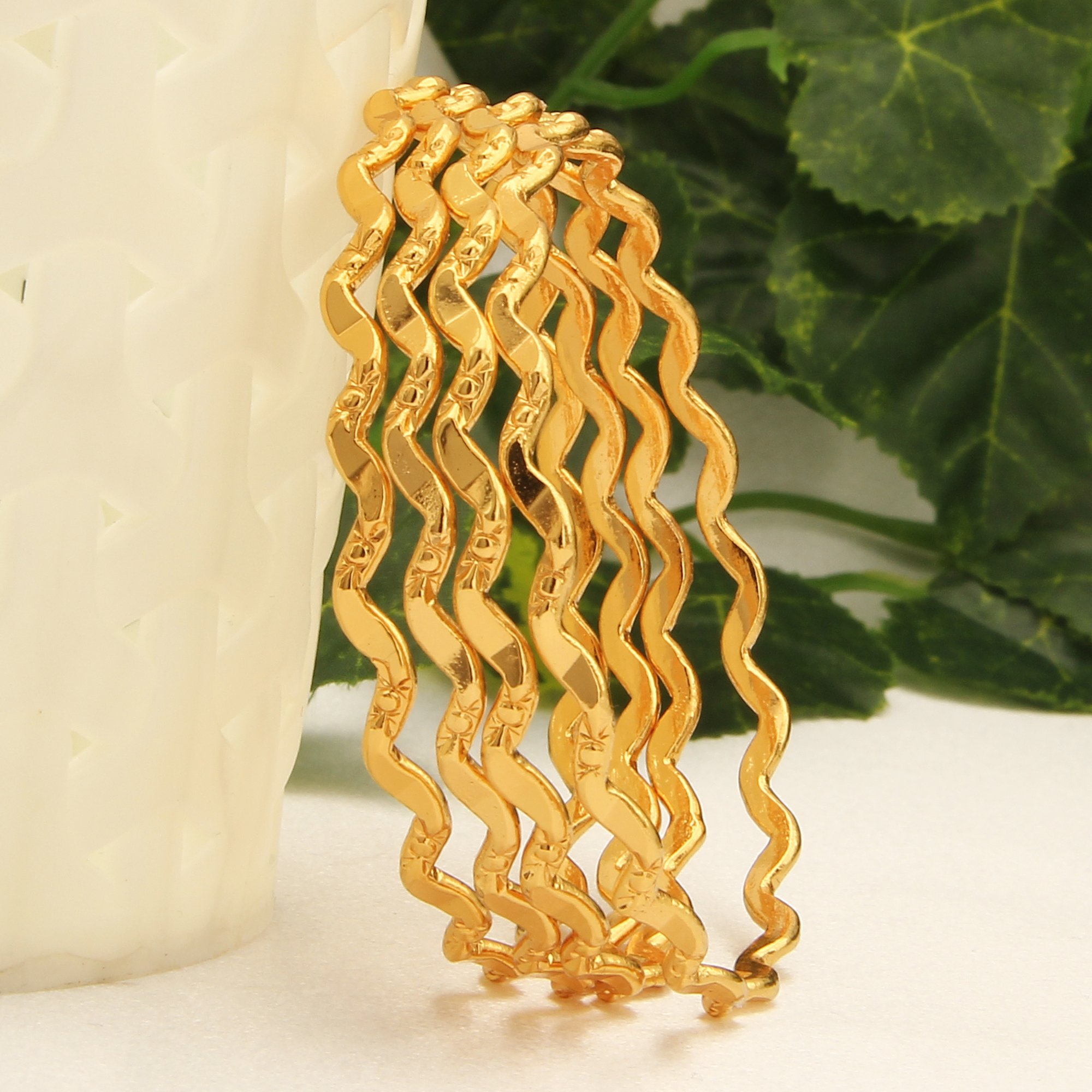 Sasitrends 1 Gram Gold Plated Thin Size Daily Wearable.