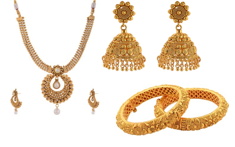Various Designs of Indian Gold Jewelry.