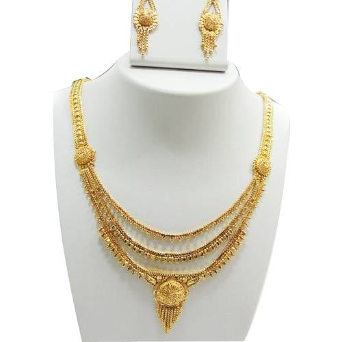 Forming Double Necklace Set, Gold & Gold Jewellery.