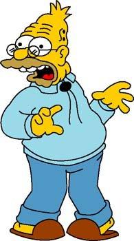 Grandpa Simpson 1 Clipart Picture Free Download.