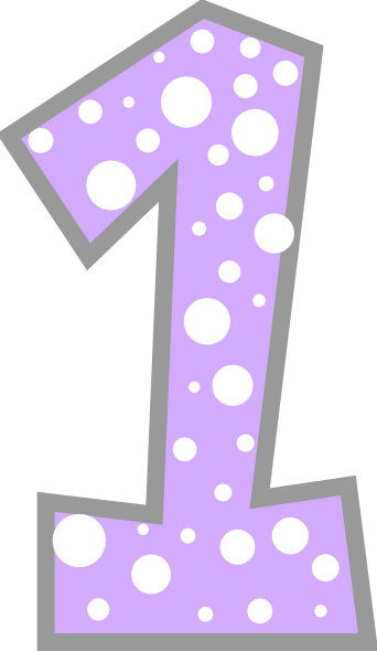 Download Free png Number 1 Light Purple And Grey Polkadot.