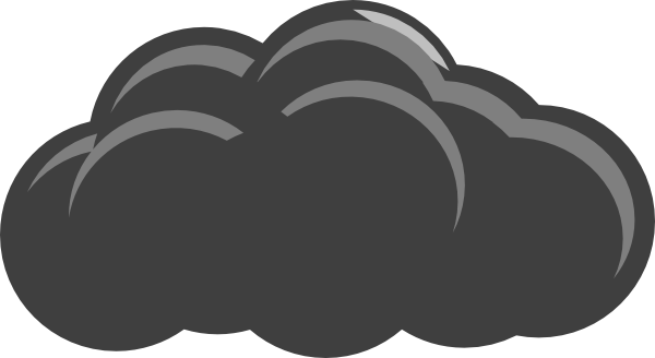 Grey cloud clipart 1 » Clipart Station.