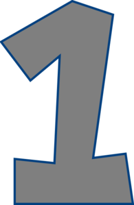 Number One (gray) Clip Art at Clker.com.