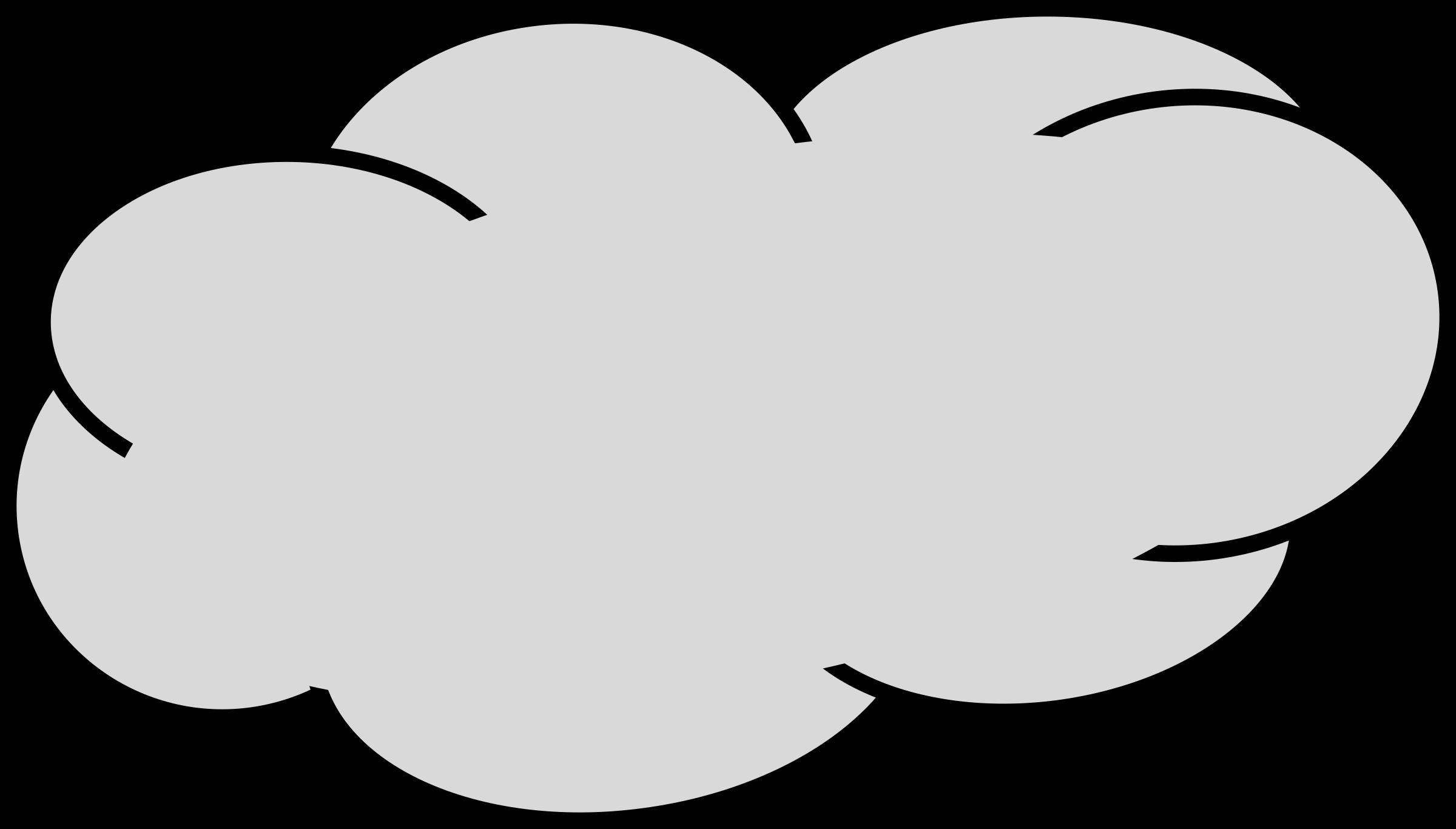 Grey Cloud Clipart.