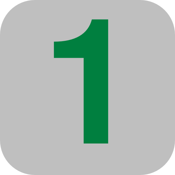 Number 1 Grey Flat Icon Clip Art at Clker.com.