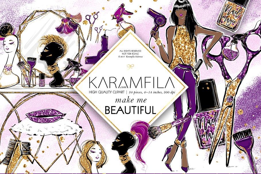 Hairdresser Beauty Salon Clipart ~ Illustrations ~ Creative.