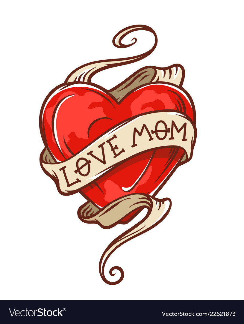 1 heart mom tattoo clipart images gallery for Free Download.