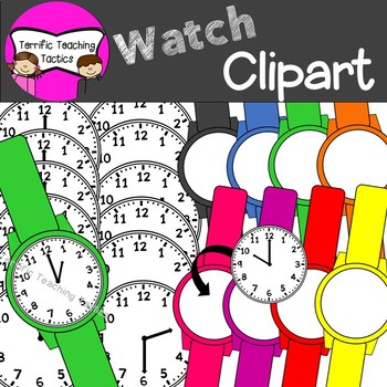 Watch Clip Art (Telling Time to the Hour/Half Hour: Clocks).