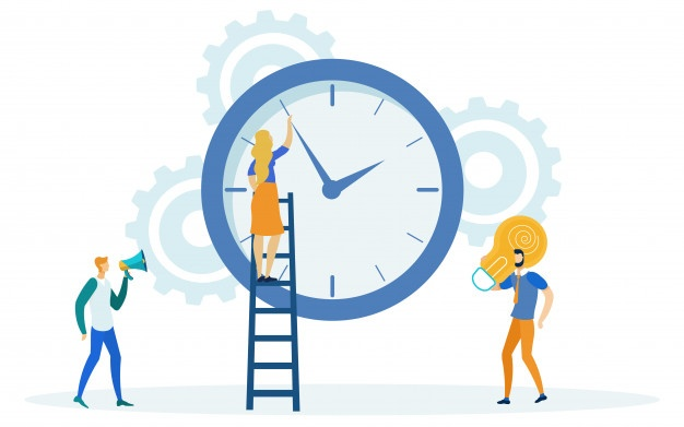 Time Vectors, Photos and PSD files.