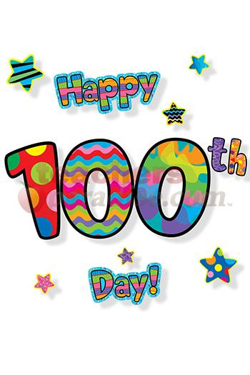 Hundredth Day Of School Clipart.