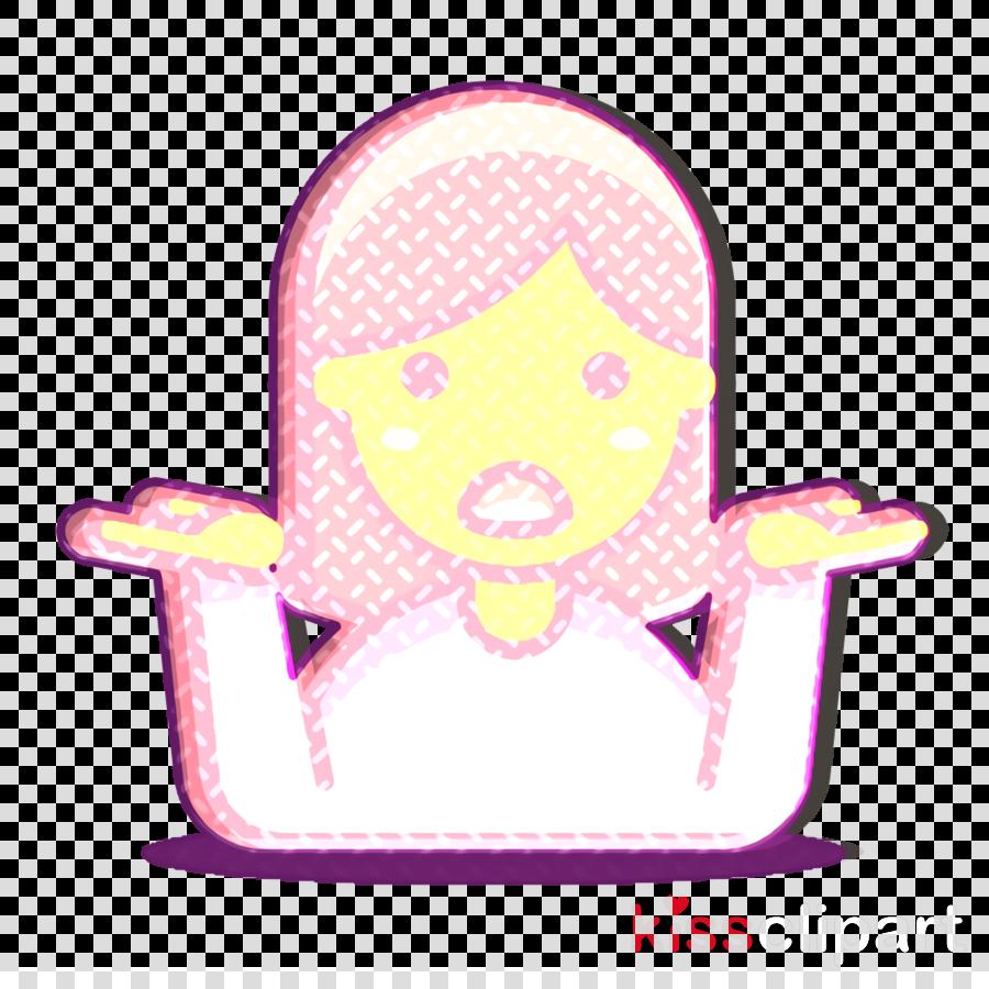 1 icon shrugging icon woman icon clipart.