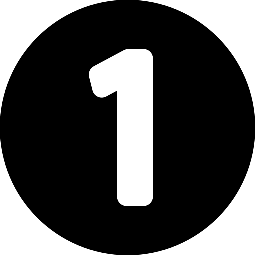 Number one inside a circle Icons.