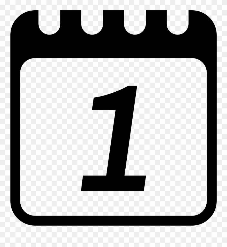 Clip Art Daily Calendar Page In Day 1 Svg Png Icon.