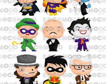 Buy 1 Get 1 !! Chibi Superheroes Clipart / Digital Clip Art for.