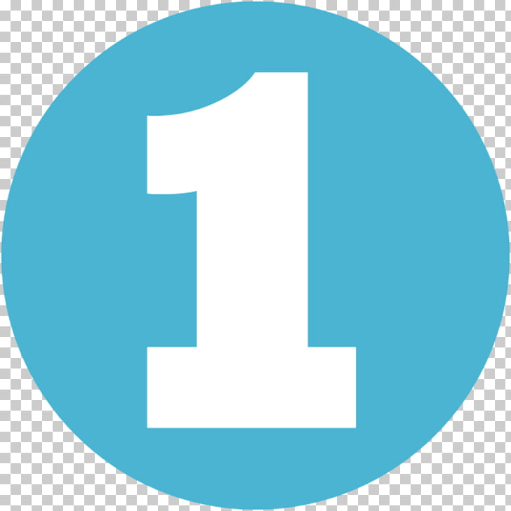 Computer Icons , Circle Blue Number 1 PNG clipart.