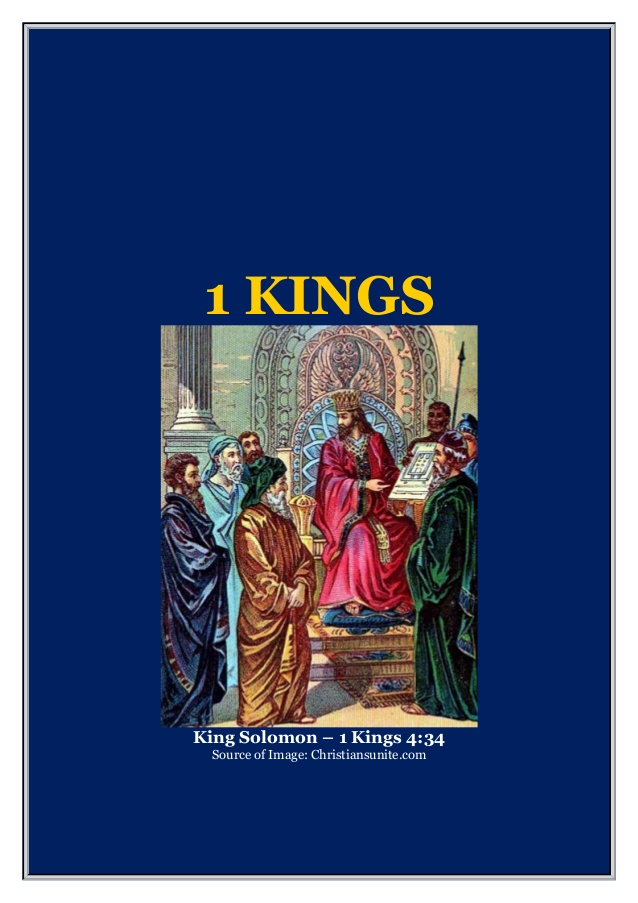 THE FIRST BOOK OF THE KINGS.