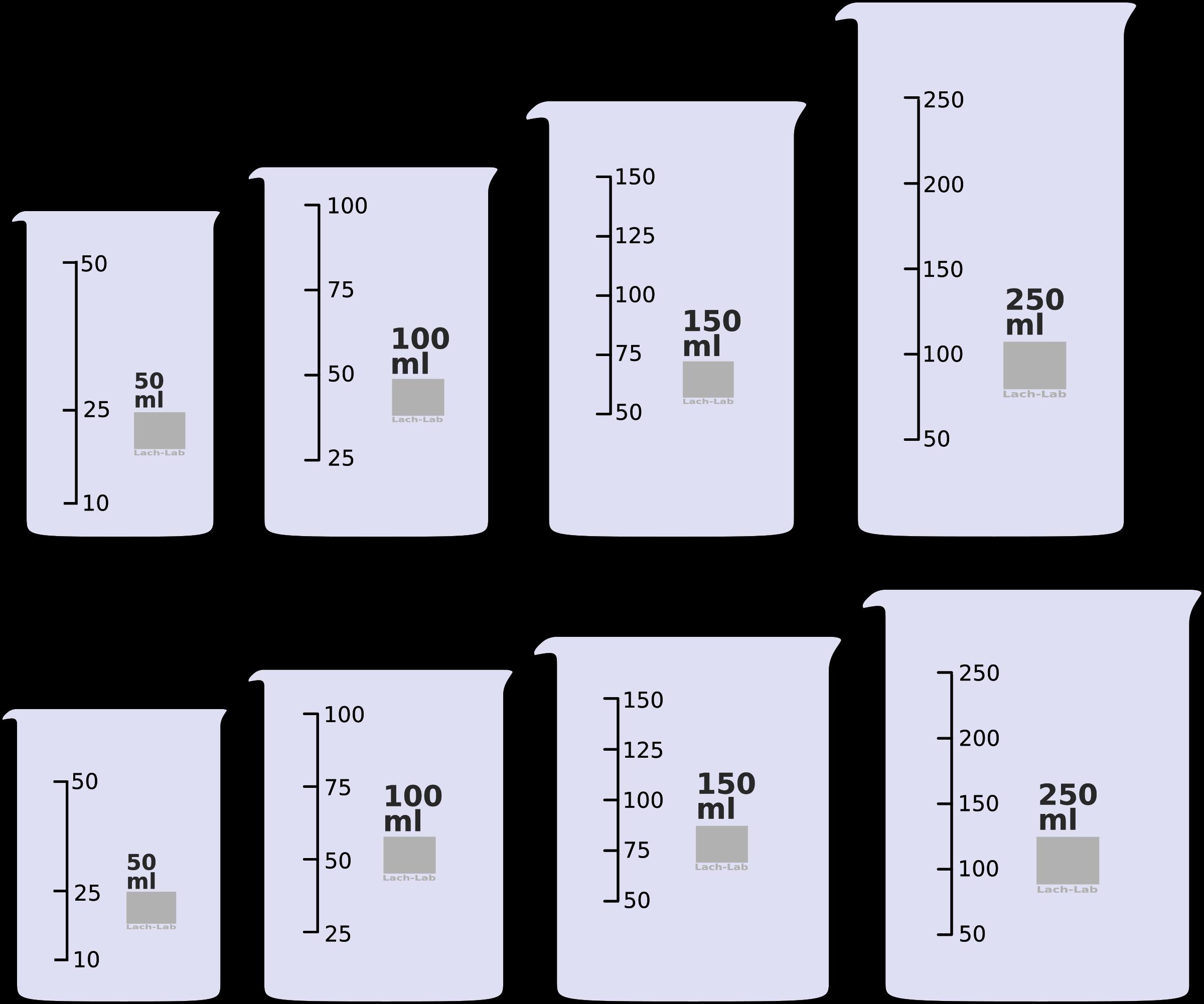 Beaker clipart 250 ml, Beaker 250 ml Transparent FREE for.