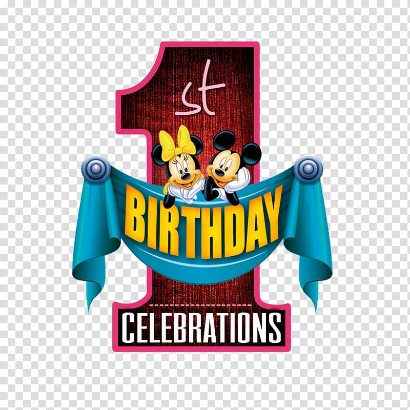 Minnie and Mickey Mouse Celebrations 1 , Logo Banner, 1st.
