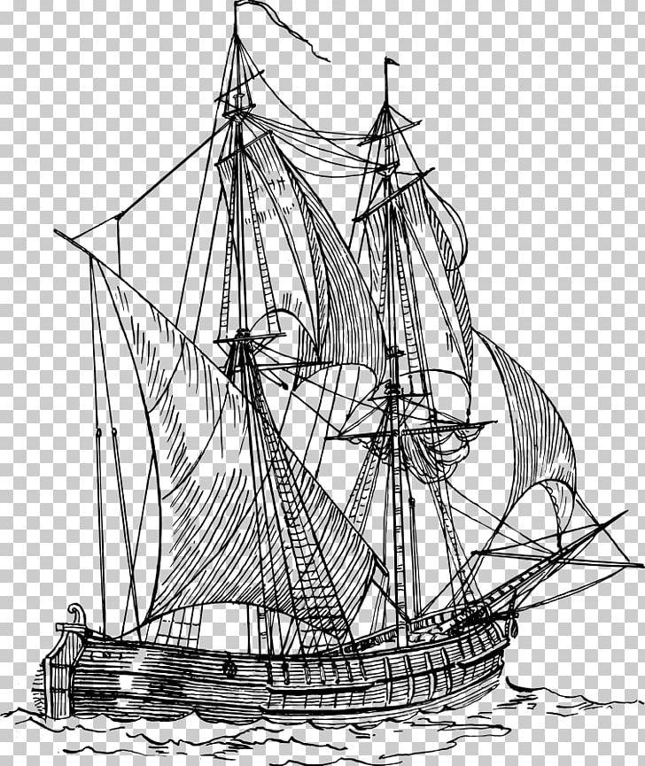 Sailing Ship Boat Drawing PNG, Clipart, Brig, Caravel.