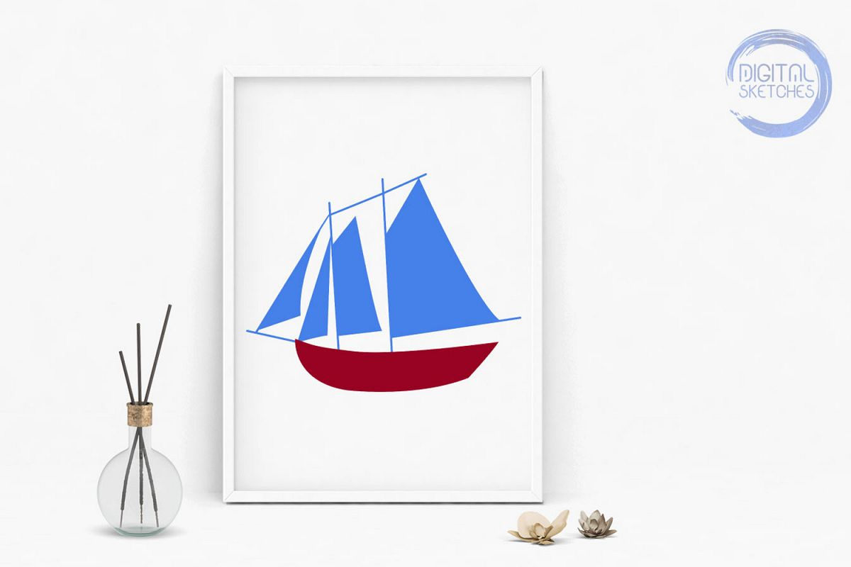 Ship Saying Cut File, Vector Graphic, SVG, Boat Clipart.