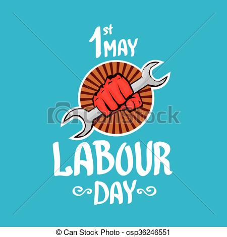 Clipart Vector of 1 may.