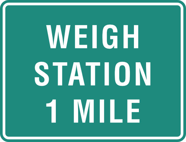 Weigh Station One Mile Clip Art at Clker.com.