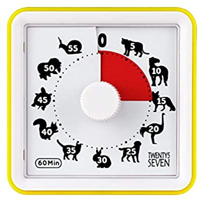 Countdown Timer 3 inch; 60 Minute 1 hour Visual Timer.
