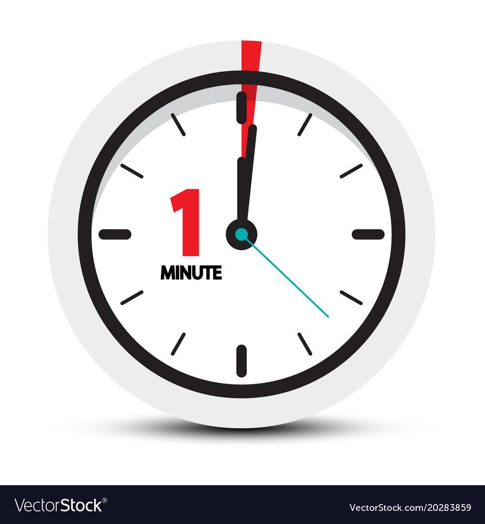 1 minute clock.
