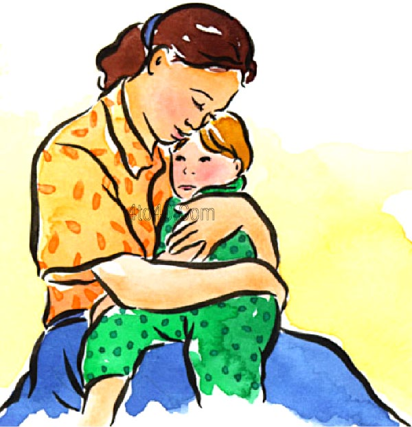 Hugging Mom Clipart #1.