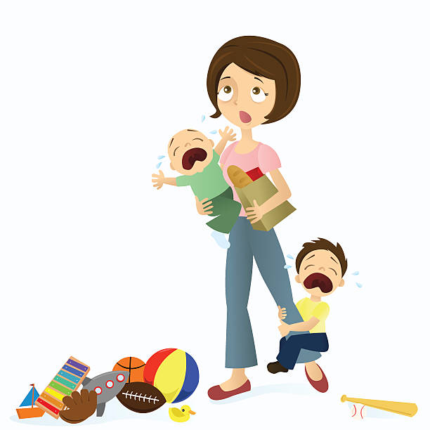 Stressed mom clipart 1 » Clipart Station.