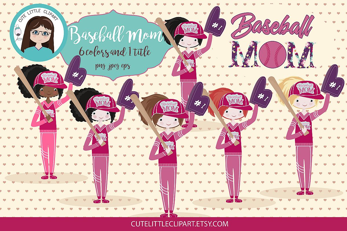 Baseball Mom clipart.