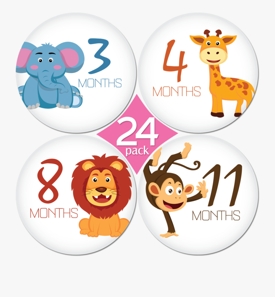 1 Month Baby Sticker , Free Transparent Clipart.