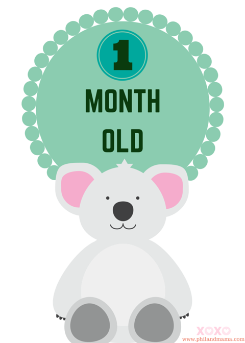 One Month Old Clipart.